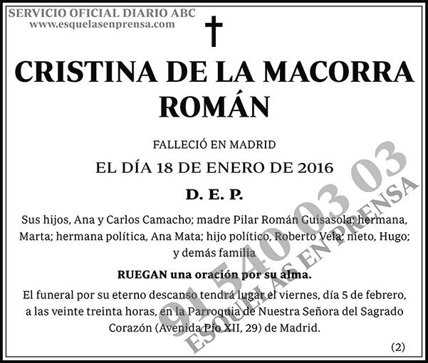 Cristina de la Macorra Román